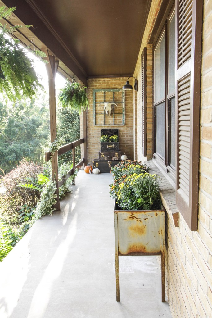Vintage Style Boho Fall Front Porch