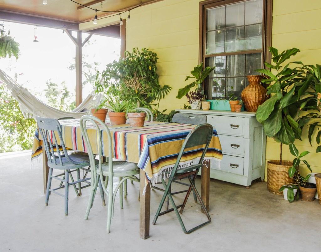 Fall Bohemian Porch Dining area