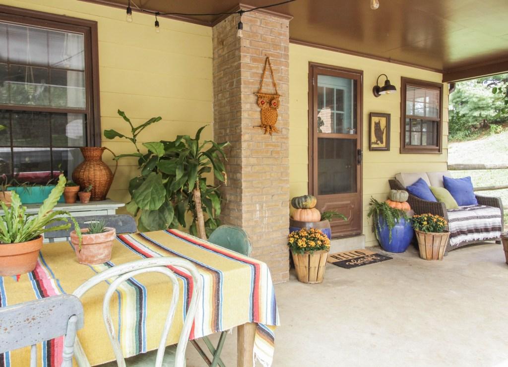 Eclectic Boho Farmhouse Fall Porch
