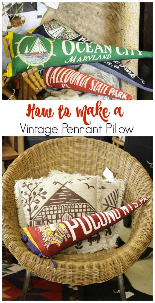 How to Make a Vintage Pennant Pillow