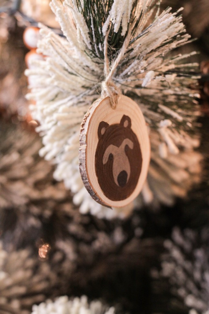 DIY Animal Face Wood Slice Ornaments
