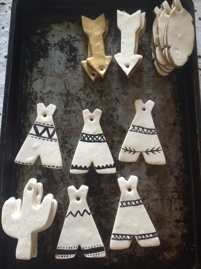 Embellished Clay Ornaments