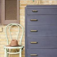 Furniture Makeover: Navy Masculine Vintage Art Deco Dresser