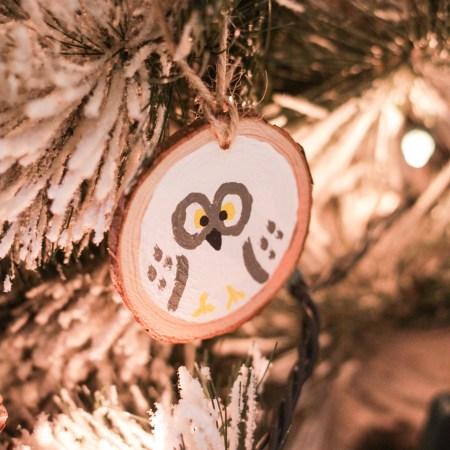 DIY Painted Woodland Animal Ornaments