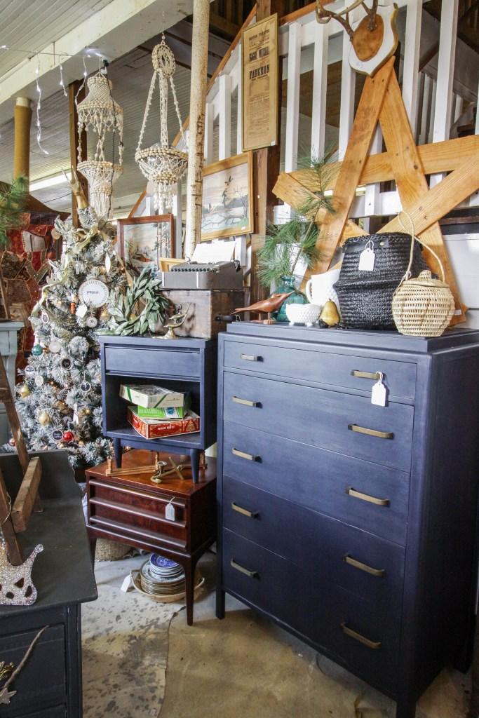 Navy art Deco Dresser at Sweet Clover