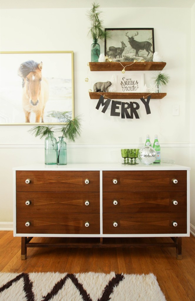Two Toned Midcentury Dresser Makeover