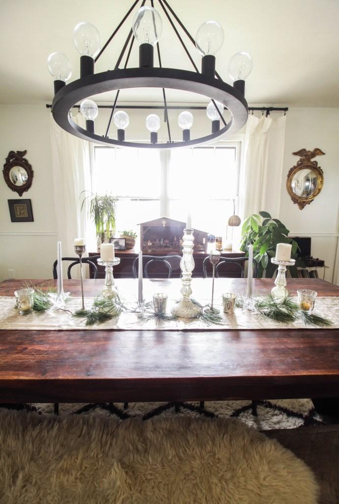 Bohemian Farmhouse Christmas Dining Table
