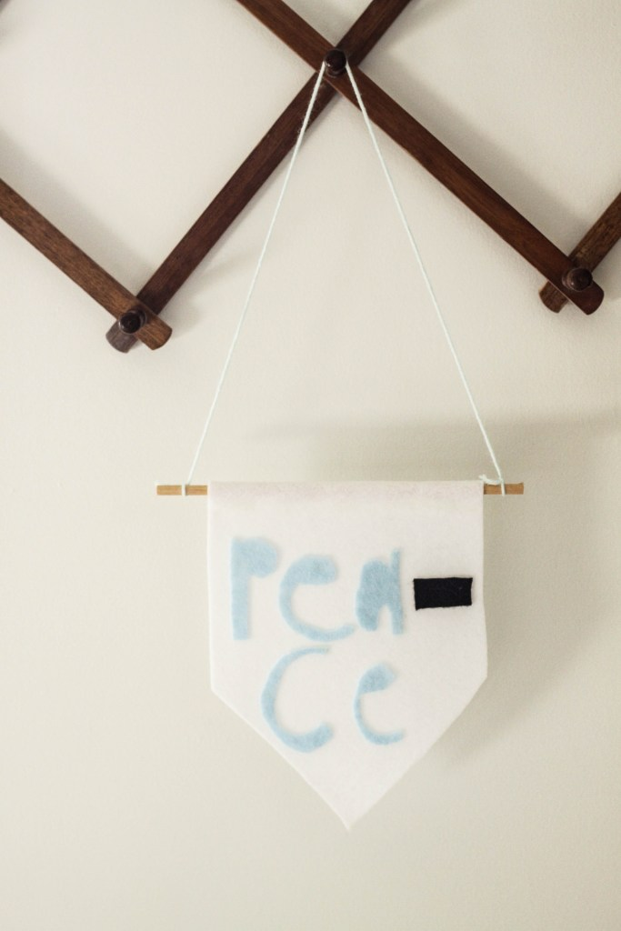 DIY Kid craft- felt banner