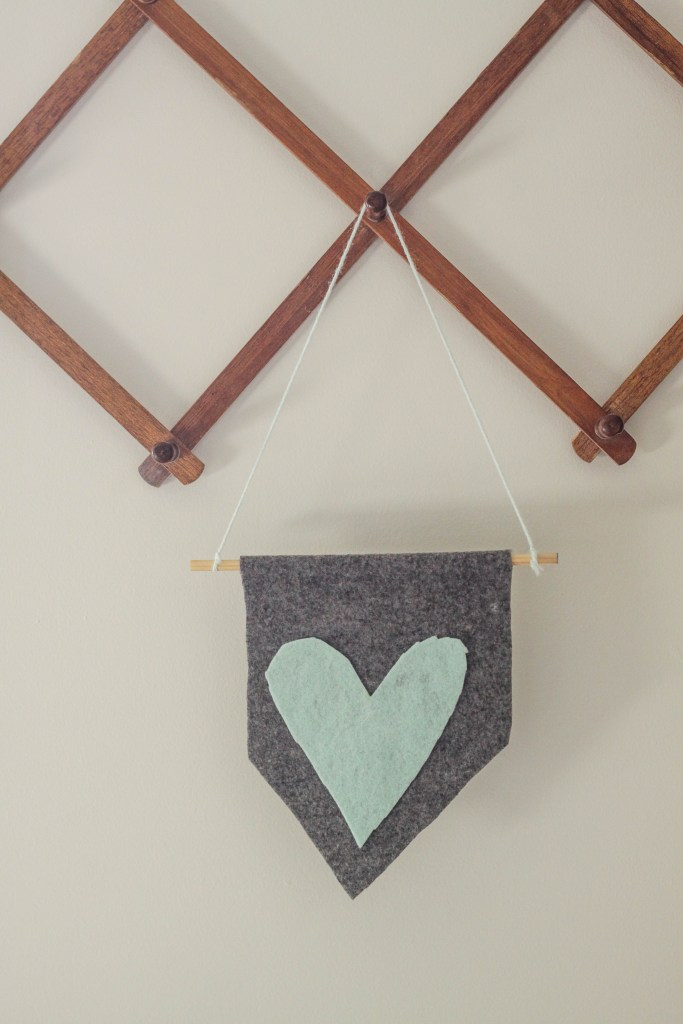 Easy Child Made Felt Flag
