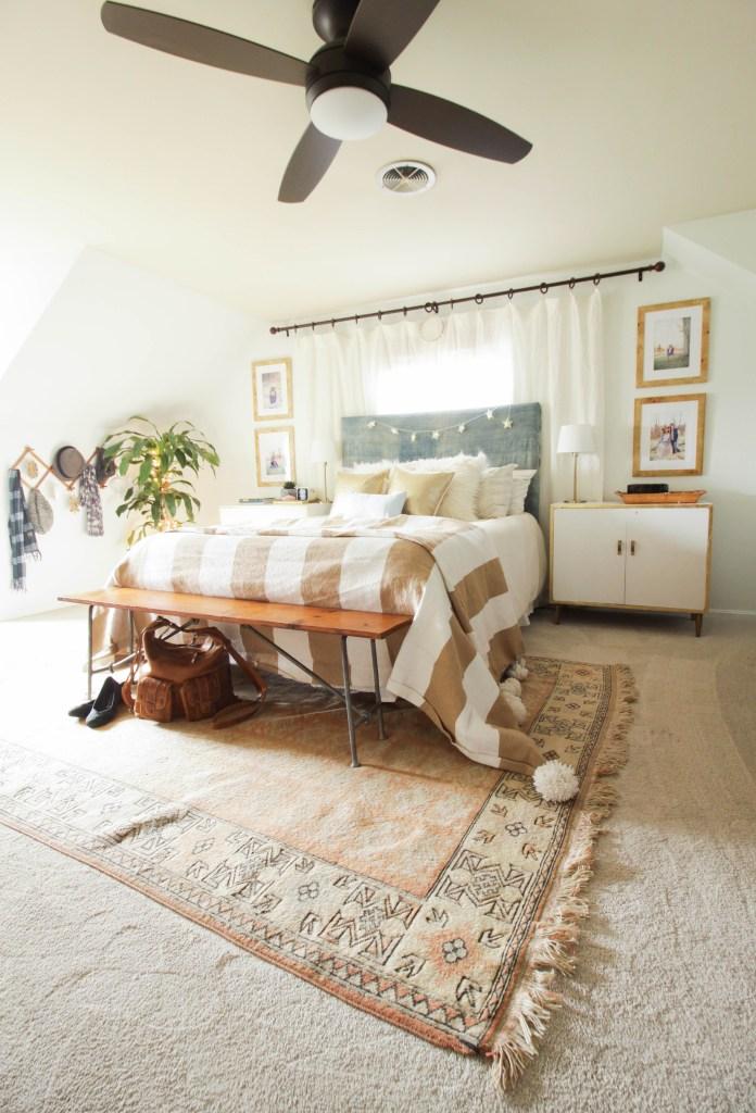 Modern Bohemian Christmas Bedroom