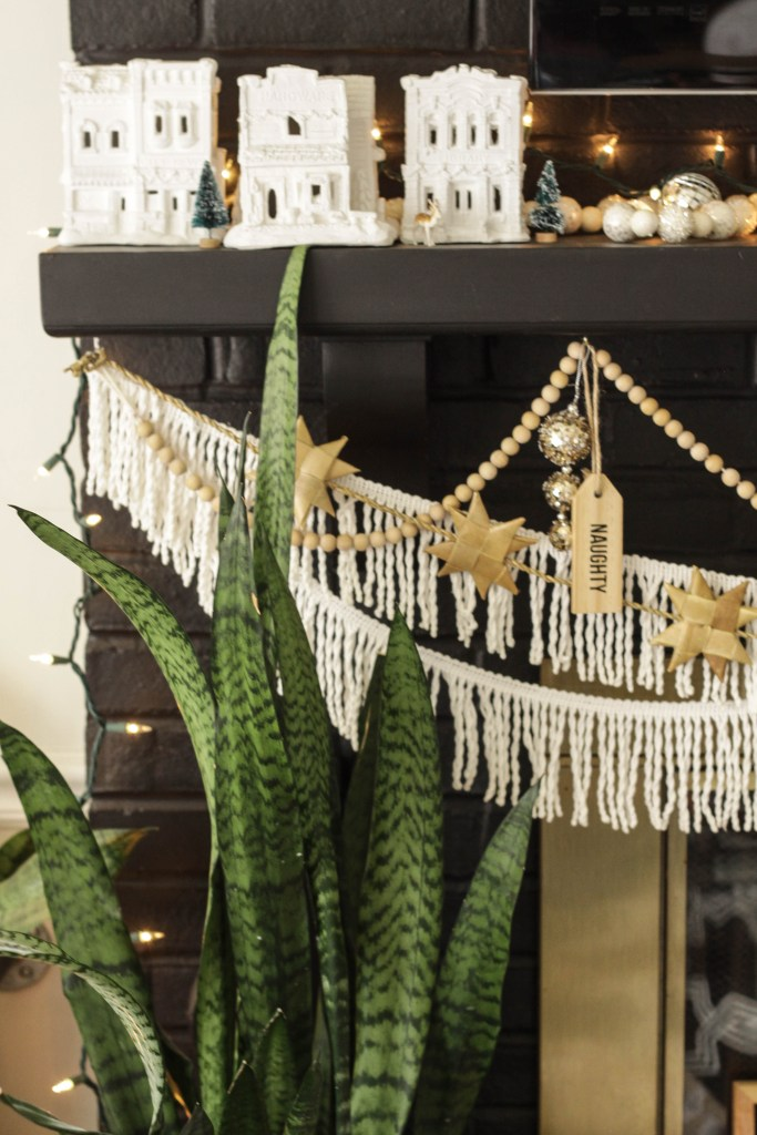 Eclectic Christmas Mantle