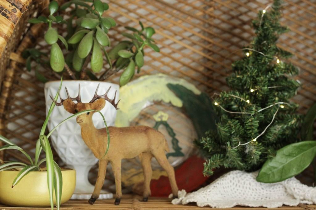 Christmas shelf styling