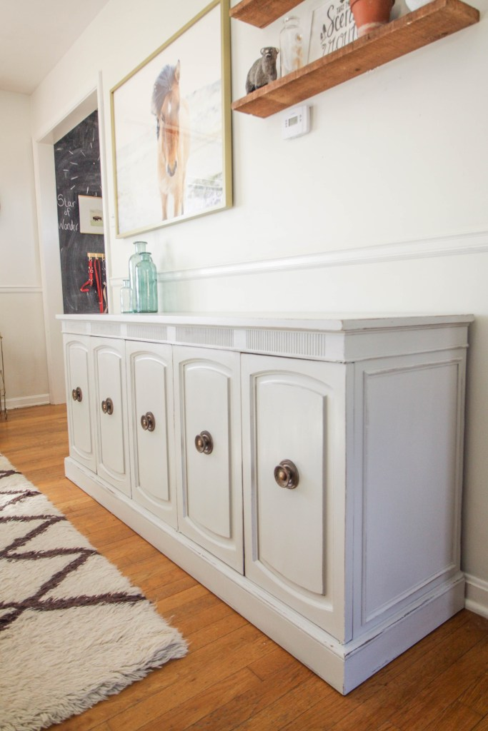 Gray Sideboard Makeover