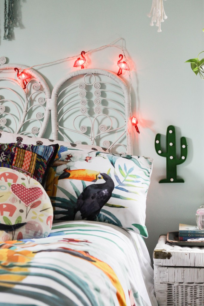Flamingo String Lights and Cactus Light