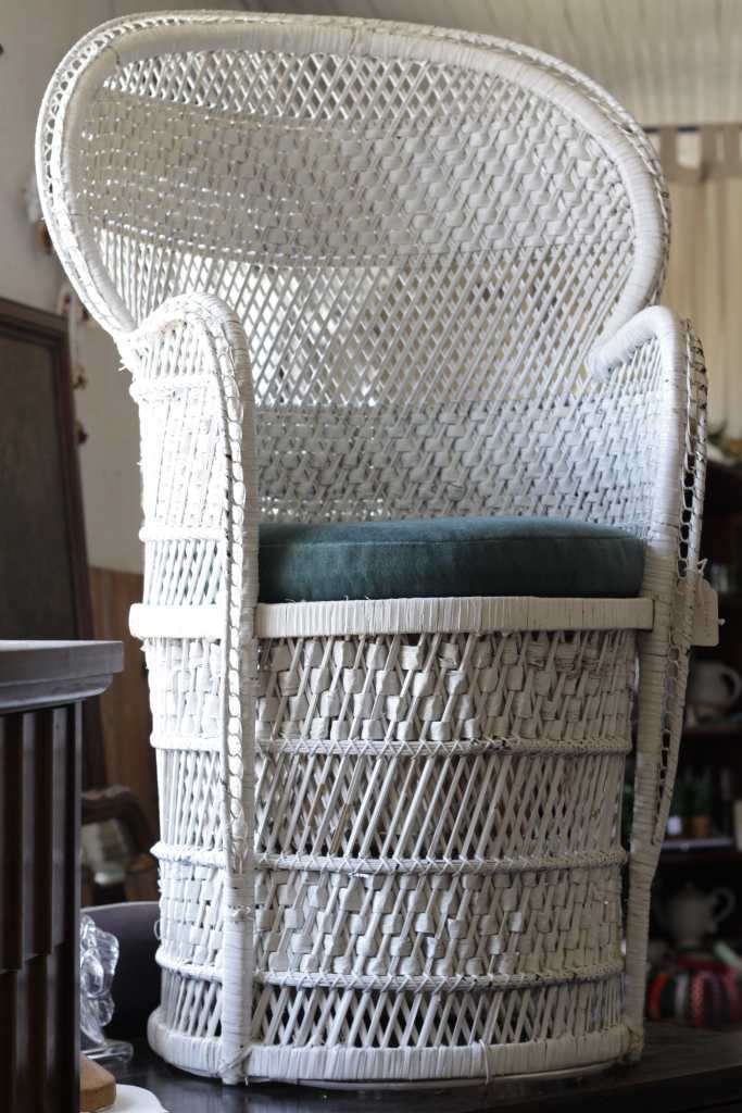 Vintage Peacock Chair at Sweet Clover