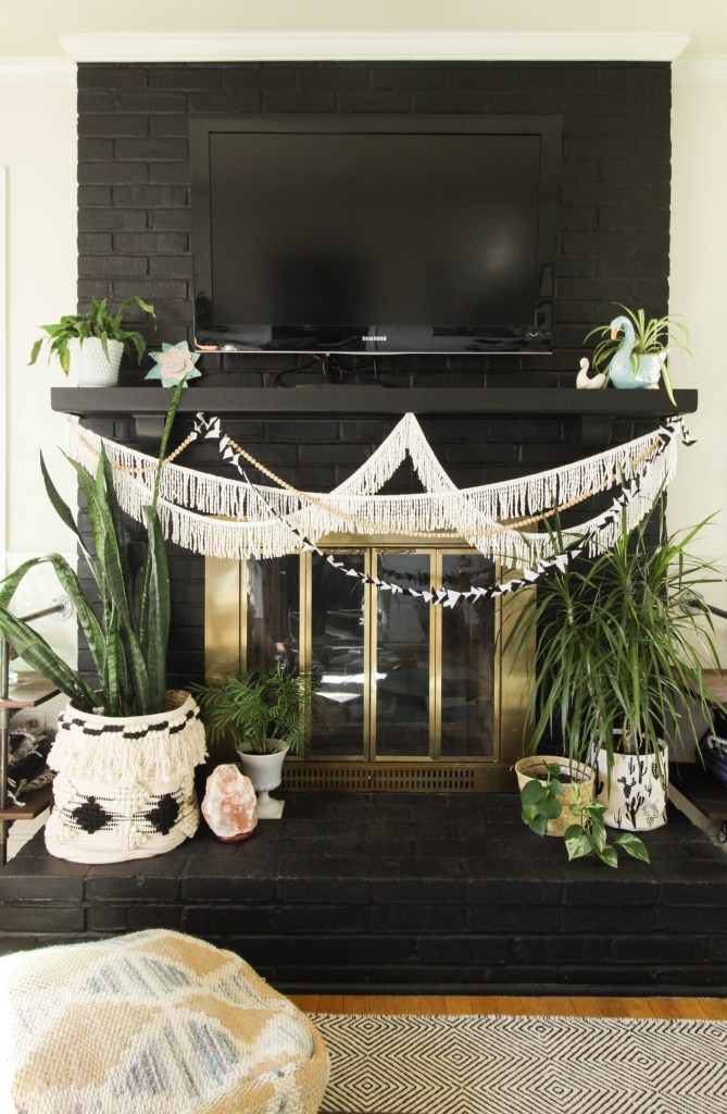 Black Boho Spring Mantle