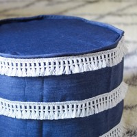 Make a cover for a pouf