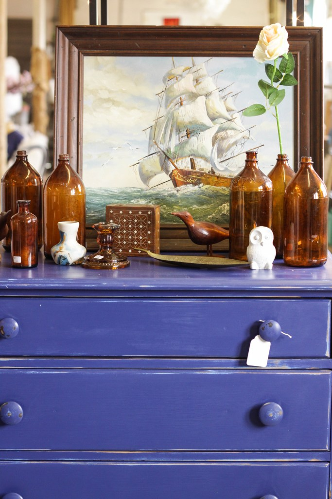 Blue and Amber brown vignette