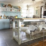 Eclectic Spring Dining Room & Kitchen Tour Filled with Blues & Greens
