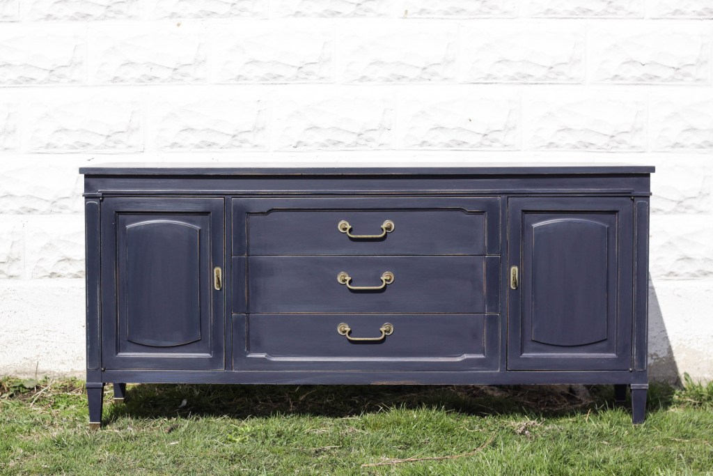 Coastal Blue Vintage Sideboard Makeover