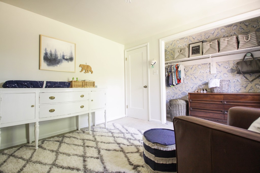 Vintage Sideboard as changing table