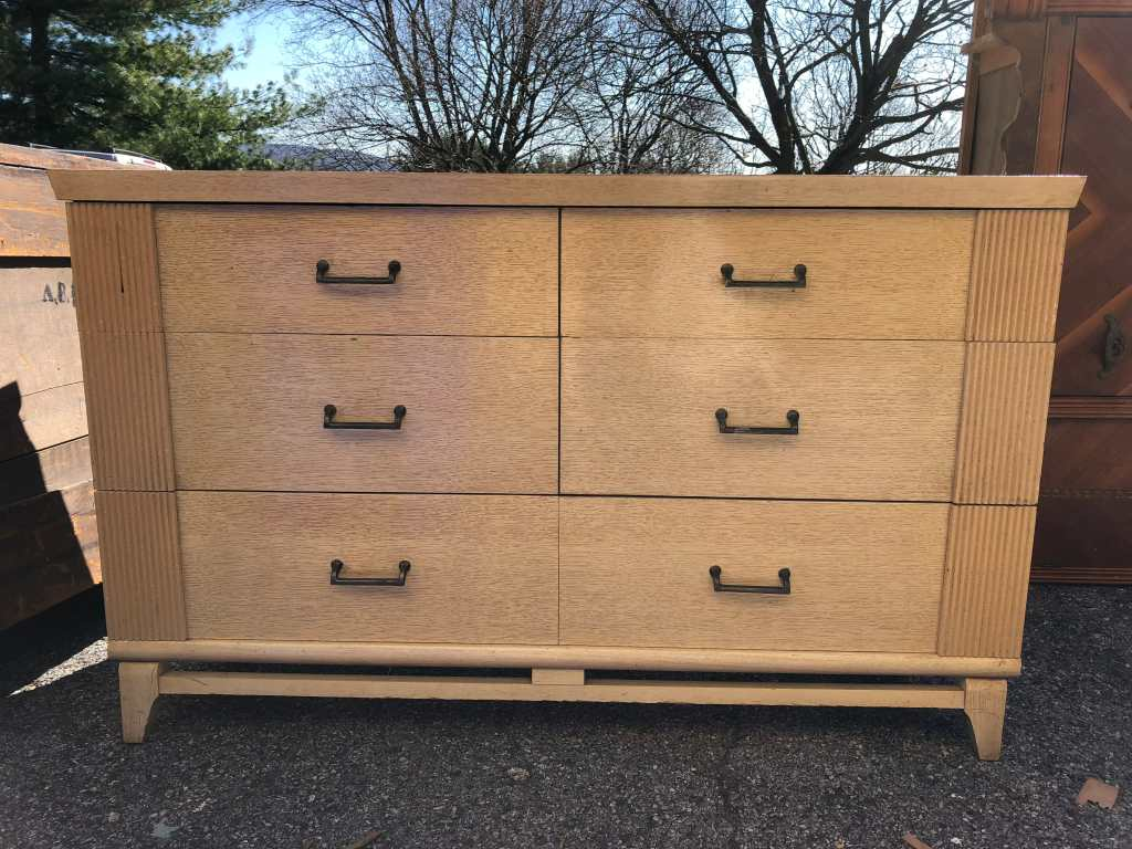 White & Gold Dresser Before
