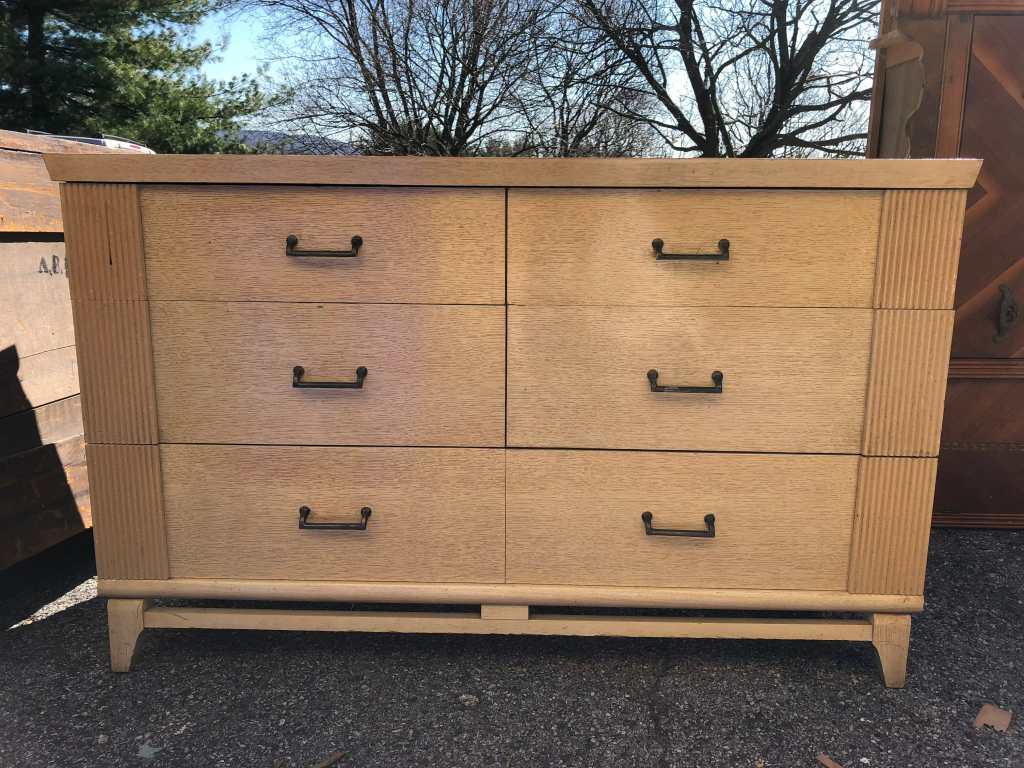 White & Gold Dresser Before