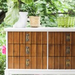 Furniture Makeover: White Framed Wood Midcentury Dresser