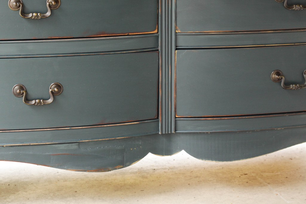Chippy veneer painted and distressed dresser
