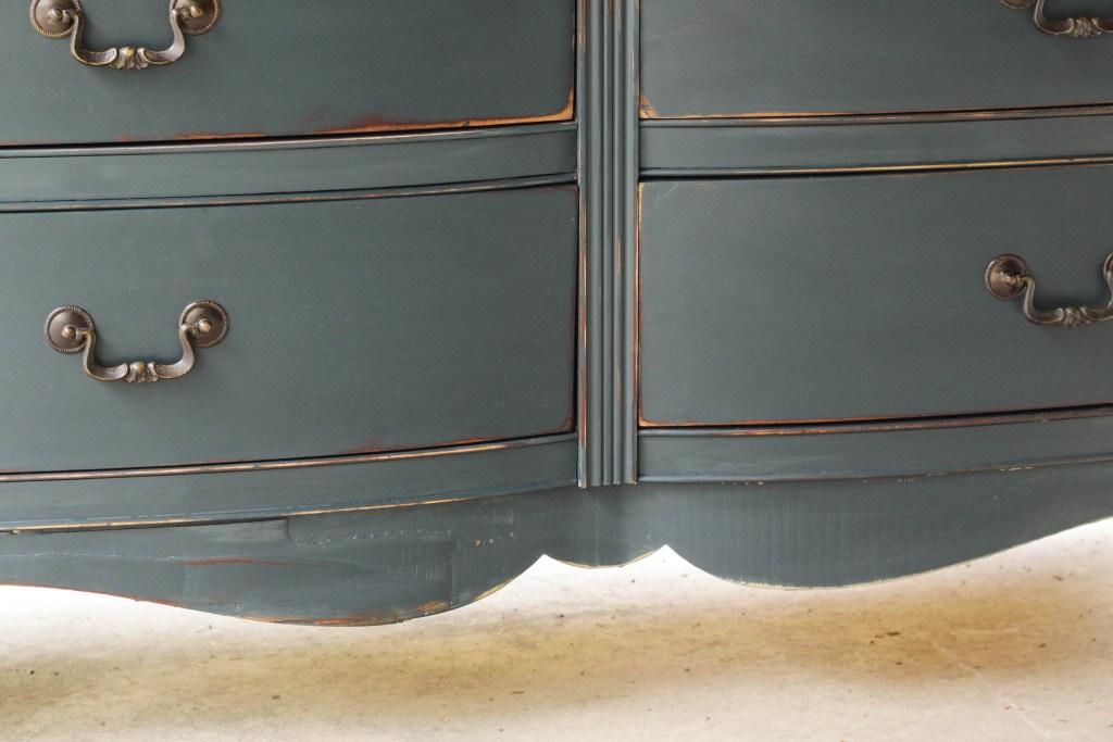 Chippy veneer painted and distressed dresser