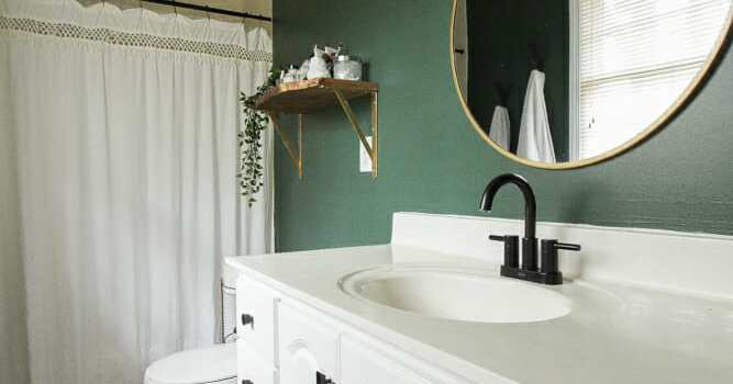 Green Master Bathroom Progress: The Power of Paint and Small Changes