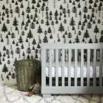 Gender Neutral Nursery with wallpaper