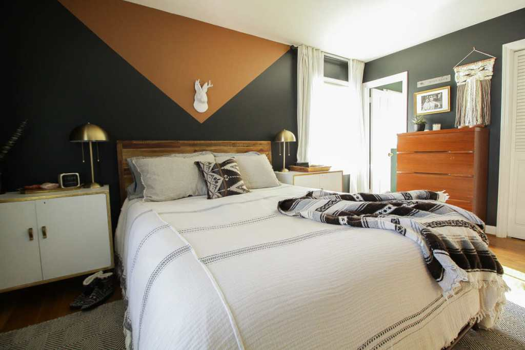 Modern Color Block Bedroom