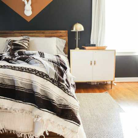 DIY Color Block Modern Boho Bedroom