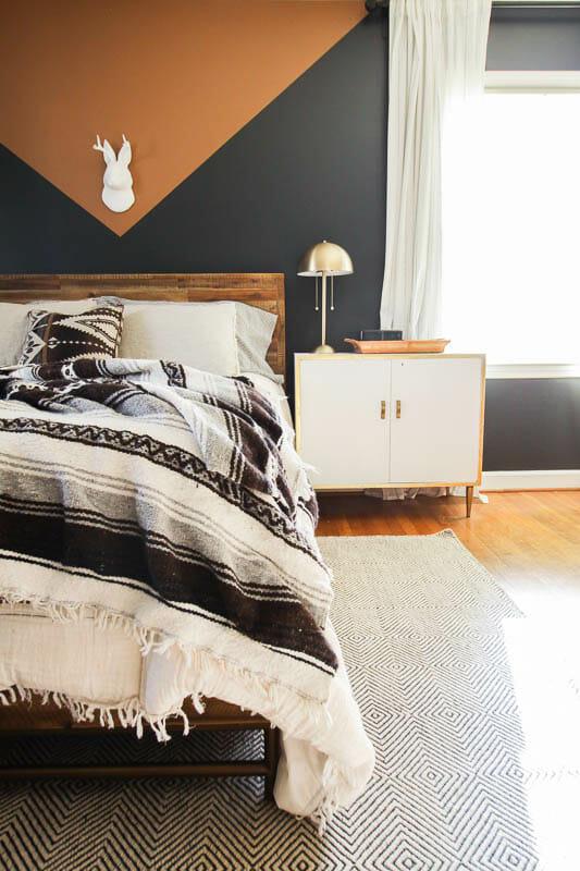 DIY Color Block Modern Boho Bedroom