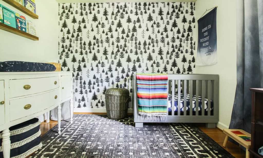 Gender Neutral Nursery with Rainbow accents