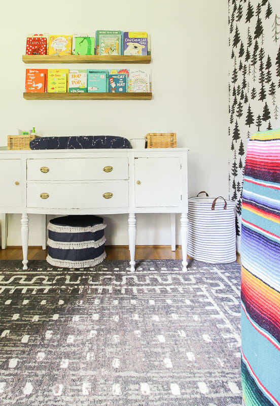 Gender Neutral Modern Bohemian Baby Room