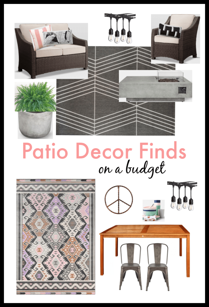Patio Decor Finds on a budget