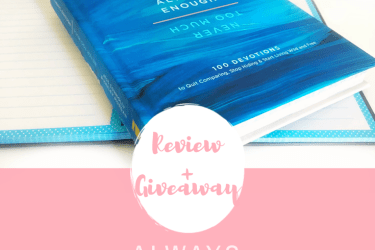 Always Enough – Never Too Much: Review + Giveaway