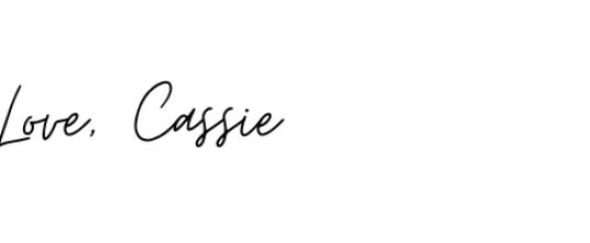 Love, Cassie