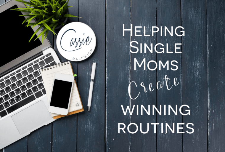 helping single mom create winning routines to manage their finances