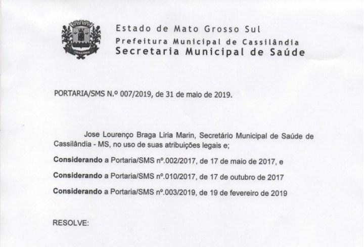 Secretaria de Saúde altera horário de expediente da Vigilância Sanitária e CCZ