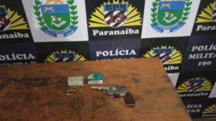 Polícia Militar prende dois homens com arma de fogo em Paranaíba