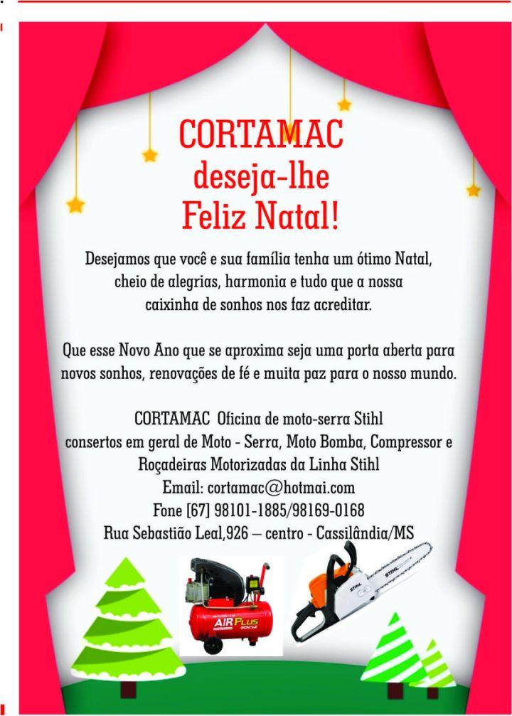 Mensagem de Boas Festas da Cortamac