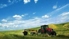 Un trattore in un campo da mietere, l'immagine della fiera Agralia di Sora, in provincia di Frosinone