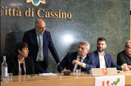 L'intervento del sindaco di Cassino, Enzo Salera
