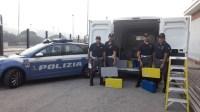 Sequestrato materiale destinato agli impianti di sicurezza ed emergenza di provenienza furtiva.