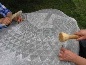 Prove di incisione di una Statua stele tipo Aosta