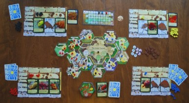 Really pretty game components, as shown in this image from March of the Ants successful Kickstarter.