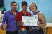 Jovem atleta castanheirense recebe reconhecimento público.
